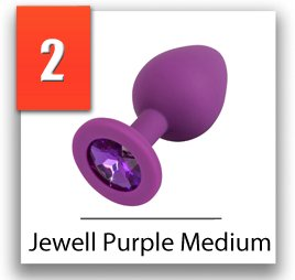 Jewel purple medium análny šperk